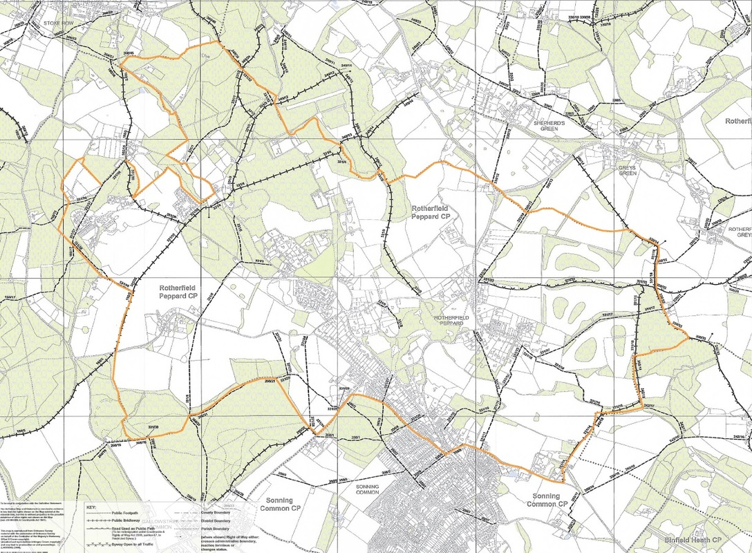 Rotherfield Peppard Footpaths Map